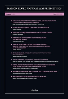 Journal of Applied Ethics - issue 07